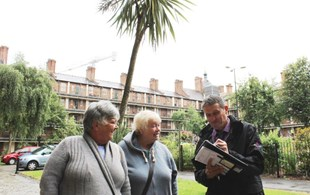 Northwards Housing Officer Gary On An Estate Walkabout With Tenants Around Victoria Square