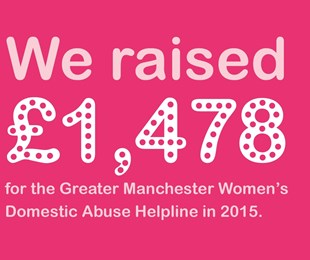 We Raised 1478 Pounds For The Greater Manchester Womens Domestic Abuse Helpline In 2015