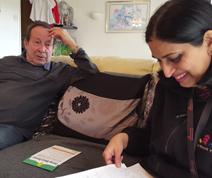 Naila And Frank Discussing The Savings Hes Made On His Energy Bills