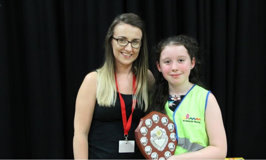 Bethany Milor Of St Mary S Primary School And Her Teacher Miss Allen