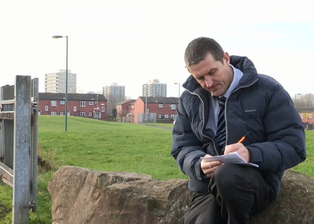 Northwards Neighbourhood Housing Officer Gary Macfarlane On An Estate Walkabout