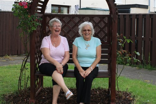 L R Angela Connor And Mary Armstrong Of Irk Valley Tenants Residents Group In Their Communal Garden