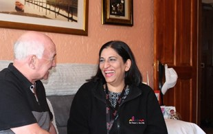 Energy Advisor Naila Ilyas With Tenant Tom Morgan