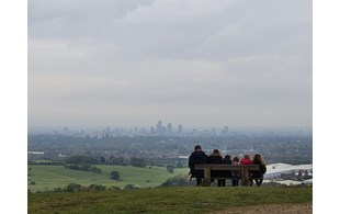 A Family Looking Out Over Greater Manchester